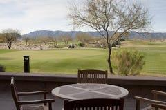 Arizona-Wüsten-Golfplatz lizenzfreie stockfotos