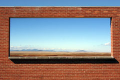Arizona Wall. A wall of the Meteorit Crater Museum in the Arizona desert Stock Image