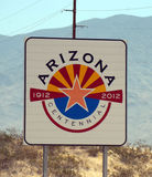 Arizona welcome sign Stock Image