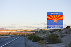 Arizona Welcomes You at I-10 Stock Images