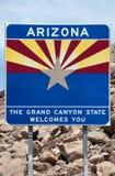 Arizona-willkommenes Zeichen Lizenzfreies Stockbild