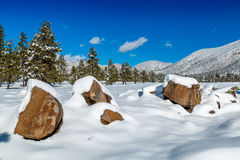 Arizona winter snow Landscapes. Royalty Free Stock Images
