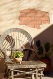 Arizona-Ziegelsteinpatio Stockfoto