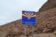 Arizona-Zustandzeichen stockfoto