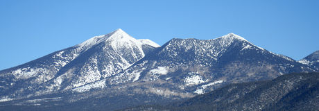 Arizonas Francisco-Spitzen im Winter lizenzfreie stockfotos