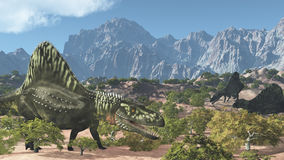 Arizonasaurus Prehistoric Scene Stock Images