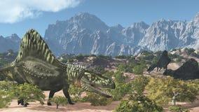 Arizonasaurus Prehistoryczna scena Obrazy Stock