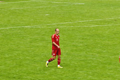 Arjen Robben from Bayern Munich. Arjen Robben  from Bayern Munich on the field Stock Photos