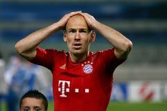 Arjen Robben di Baviera Munchen Fotografie Stock Libere da Diritti