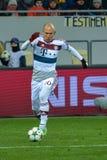 arjen robben Dopasowanie między FC Shakhtar vs FC Bayern mistrz ligii Zdjęcia Stock