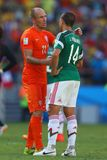 Arjen Robben and Javier Hernández Coupe du monde 2014 Royalty Free Stock Images