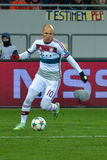 Arjen Robben. Match between FC Shakhtar vs FC Bayern. Champions League Royalty Free Stock Images