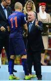 Arjen Robben and Sep Blatter  Coupe du monde 2014 Stock Image