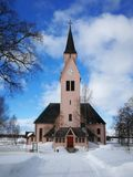 Old church in Arjeplog royalty free stock photography