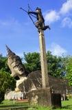 Arjuna dessine son arc tandis que le Bouddha dort Photographie stock