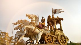 Arjuna rath. Low angle view of Arjuna rath statue Stock Image