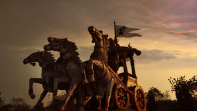 Arjuna Rath. A statue of Arjuna Rath in Bhilai,chhattisgarh,India and dramatic sky Stock Photography
