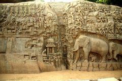 Arjuna's Penance,India Royalty Free Stock Photography