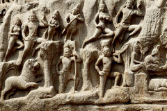 Arjuna's Penance, Mahabalipuram Royalty Free Stock Photos