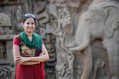 Arjuna's Penance mahabalipuram, chennai Stock Photos