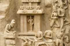 Arjuna's Penance at Mahabalipuram, Tamil Nadu,India,Asia Royalty Free Stock Photography