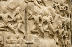 Arjuna's Penance at Mahabalipuram, Tamil Nadu,India,Asia Royalty Free Stock Photo
