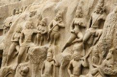 Arjuna's Penance at Mahabalipuram, Tamil Nadu,India,Asia Stock Image