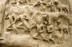 Arjuna's Penance at Mahabalipuram, Tamil Nadu,India,Asia Stock Photography