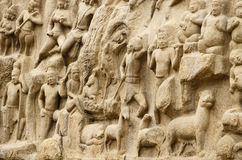 Arjuna's Penance at Mahabalipuram, Tamil Nadu,India,Asia Royalty Free Stock Images