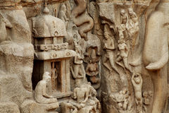 Arjuna's Penance,UNESCO Heritage site,India Royalty Free Stock Photo