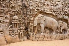 Arjunas Buße-Monolith Stockfoto