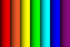 Ark av papper av färgerna av regnbågen Vektor Illustrationer