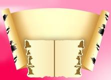 Ark av papper för en inskrift royaltyfri illustrationer