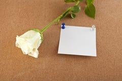 Ark av papper och blomman Royaltyfri Bild