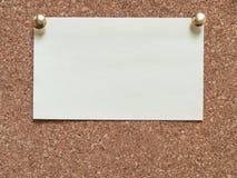 Ark av papper på brädet Royaltyfri Fotografi