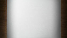 Ark av papper på ett trä Arkivfoto