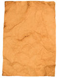 Ark av skrynkligt gammalt papper Arkivfoton