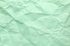 Ark av skrynkligt papper för färg som bakgrund royaltyfri foto
