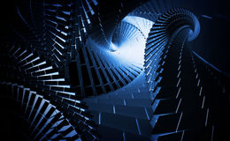Вark blue helix tunnels Royalty Free Stock Photos