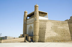 The Ark of Bukhara. The Ark, a fortress located in the city of Bukhara, Uzbekistan Stock Photo