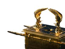 Ark of the covenant isolated on white / 3D illustration royalty free stock photography