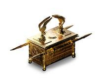 Ark of the covenant on white / 3D illustration stock image