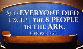 The Ark Encounter - Quote Royalty Free Stock Photos