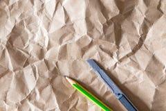 Ark för brunt papper Arkivfoton