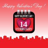 Ark för kalender för dag för valentin` s Royaltyfria Bilder