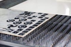 Ark för metall för CNC-laser bitande arkivbild