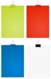 ark för stort papper för gem Fotografering för Bildbyråer