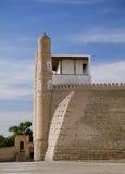 Ark fortress gate in Bukhara, Uzbekistan stock photos