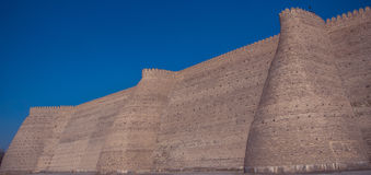 The Ark  fortress located in the city of Bukhara, Uzbekistan Stock Images