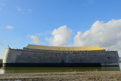 The ark of noah in dordrecht netherlands. Noah's ark in real size build in the netherlands Stock Photo